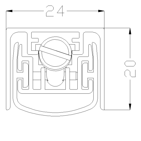Звукоизоляционный автоматический порог Sipam, модель 298SF